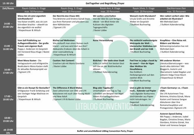Timetable LitBlog Con